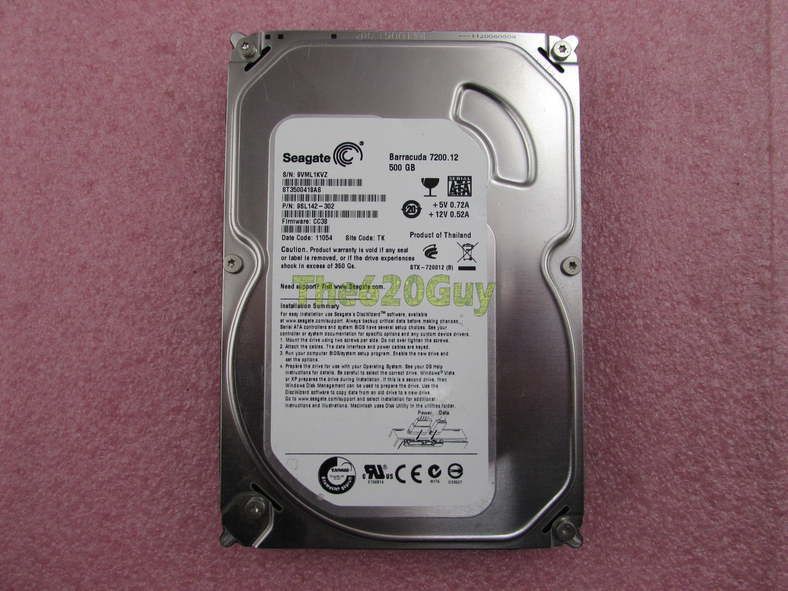 seagate barracuda 7200.12 firmware problem