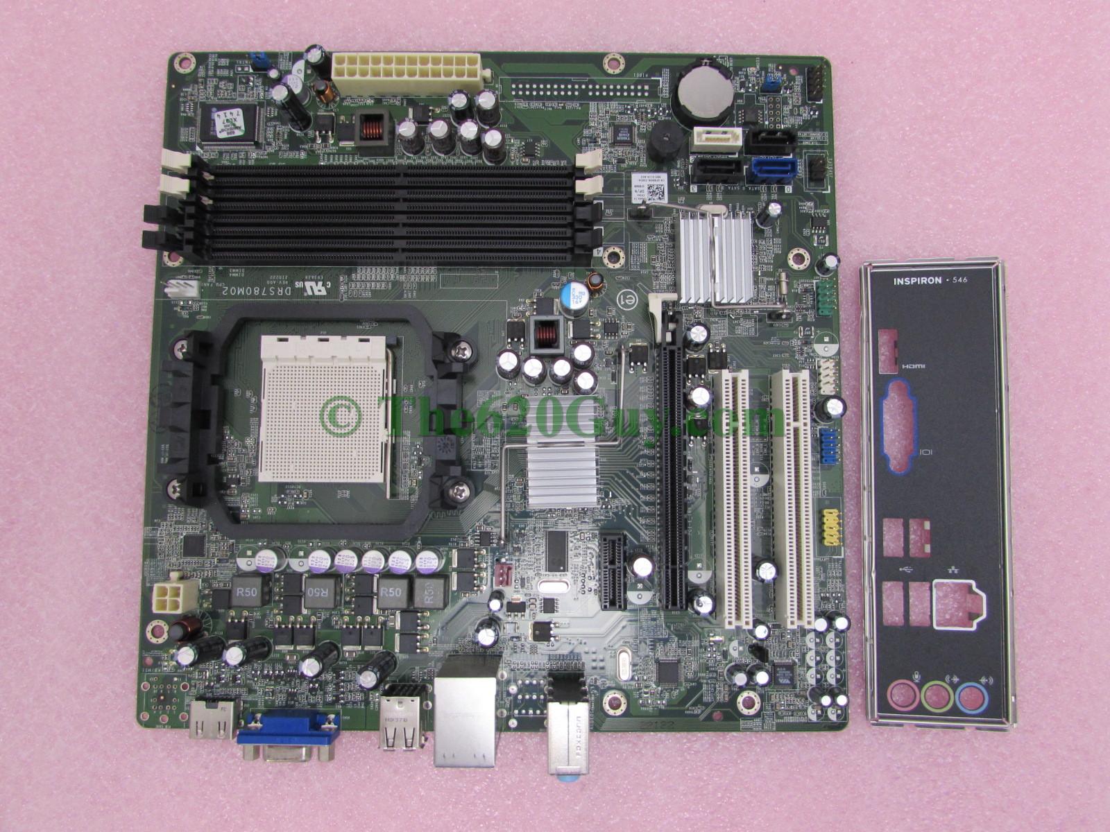 System Board Socket AM2 W//O CPU Inspiron 546 F896N
