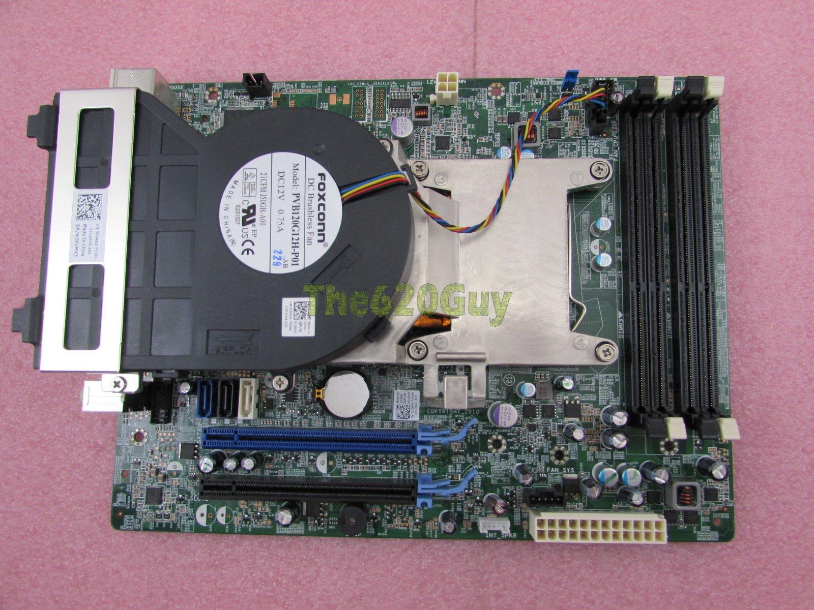Dell OptiPlex 790 SFF Motherboard D28YY + Core i5-2400 3 1GHz CPU +  Heatsink Fan
