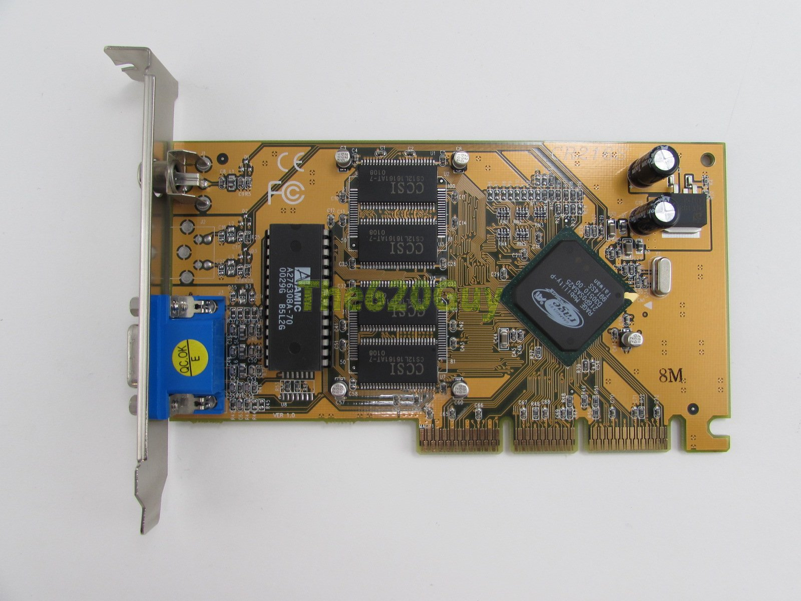 Ati Cr216s Rage Mobility 8mb 64 Bit Sdr Dx5 Vga Rca Agp 2x Video To Circuit Pictures Photos Might Not Be Of Actual Item