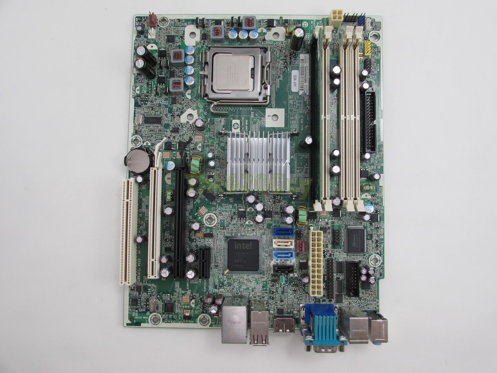 Détails : HP Compaq DC7900 Motherboard 462432-001 + Intel C2Q Q9550 2 83GHz  CPU + 1GB RAM