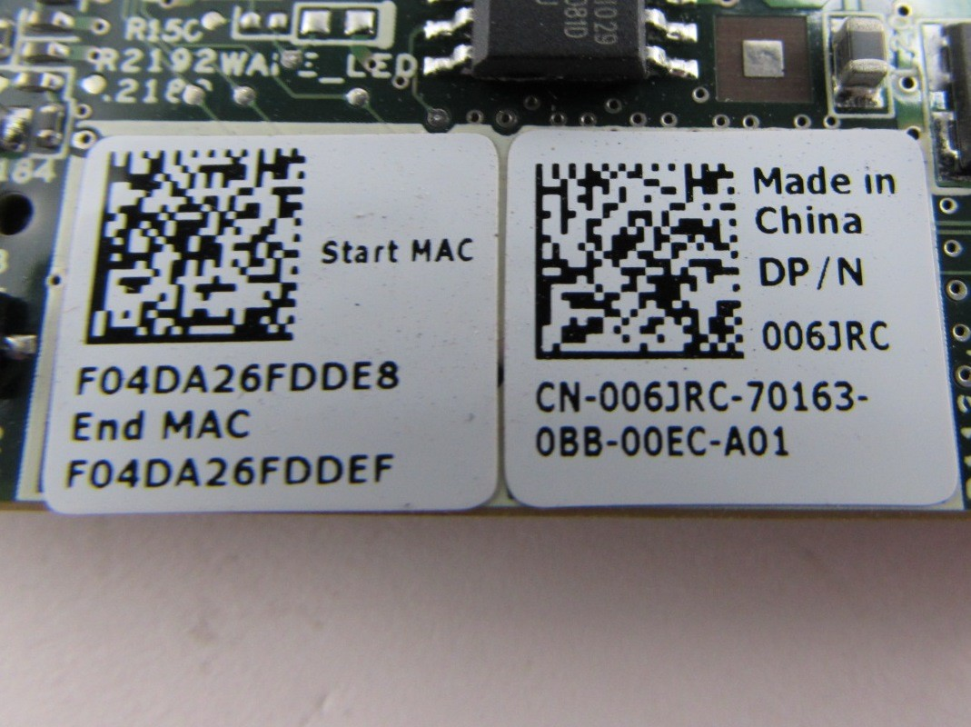 The620Guy Lot of 16 Dell 06JRC 006JRC Broadcom 5709S 1Gb Quad Port Mezzanine Network Card